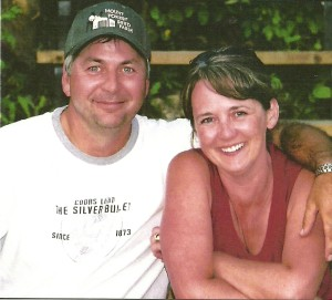 Trent & Shelley Zwingli, taken on their dock at Greenwater Lake, 3 months before their 25th Anniversary. August 2008